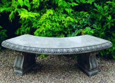 Curved Bench Classic Feet