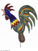 Garden Art with Stake Rooster