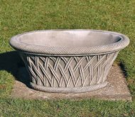 Oval Basket Pot