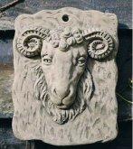 Rams Head Plaque