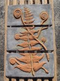 Brown Fern Panel Plaque